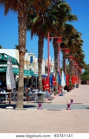 Promenade restaurants, Carboneras.