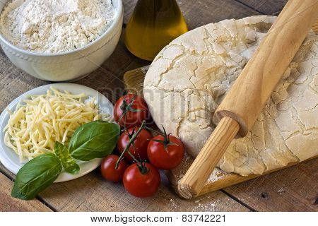 Dought For Italian Pizza Preparation