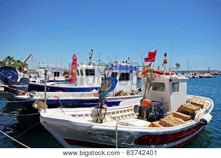 Fishing boats in harbour, Garrucha.