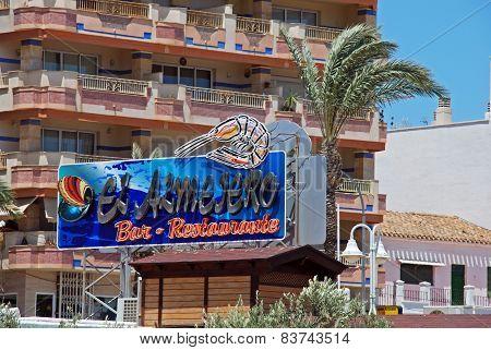 Seafood restaurant, Garrucha.