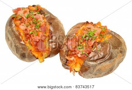 Bacon And Cheese Filled Baked Potato