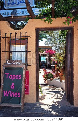 Tapas bar entrance, Mojacar.