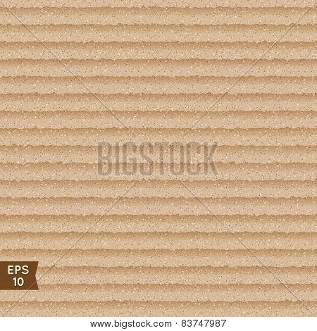 Seamless Corrugated Cardboard Texture.