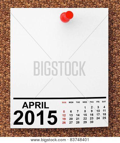 Calendar April 2015