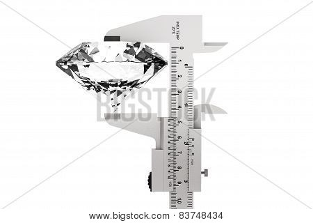 Metal Vernier Caliper With Diamond