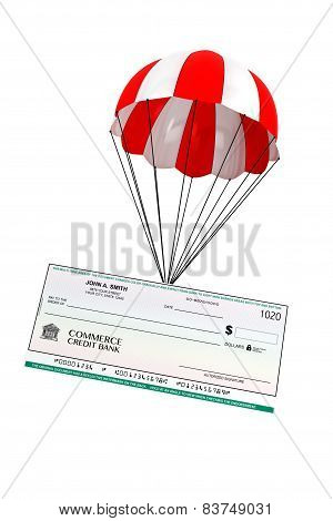 Bank Check With Parachute