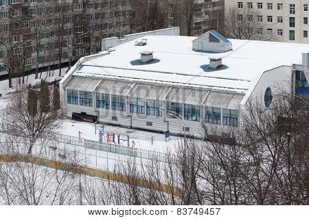 Gymnasium Building In Bibirevo District. Moscow.
