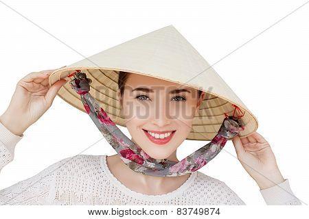 Woman at vietnam hat