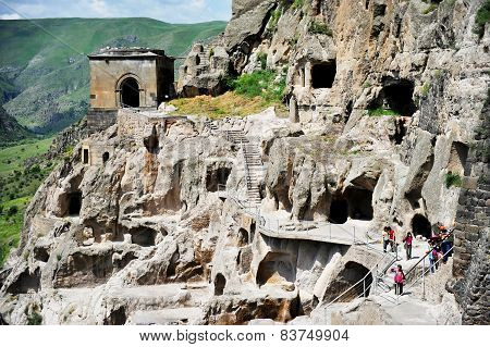 Vardzia Cave City In Summer