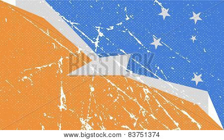 Flag Of  With Old Texture. Vector