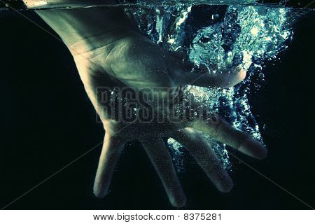 Hand Moving In Water