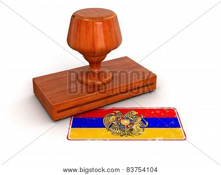 Rubber Stamp Armenian flag (clipping path included)