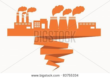 Building of factories located on the ribbon spoiling ecology