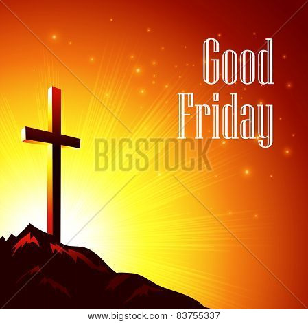 Good Friday Vector illustration with the image of Calvary