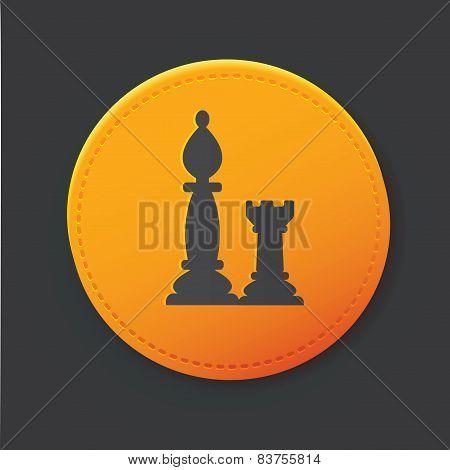 Chess button,clean vector
