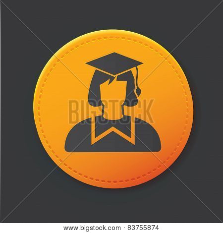 Education button,clean vector