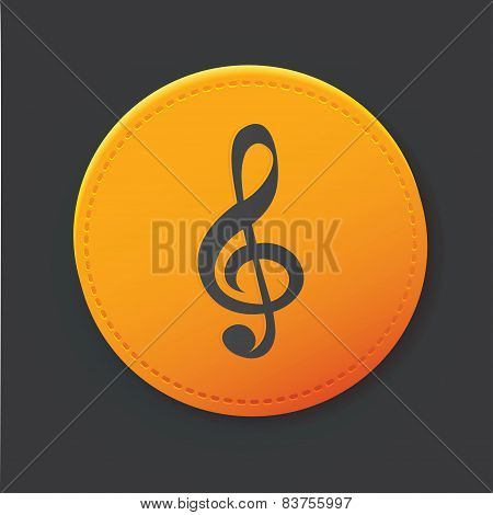 Song button,clean vector