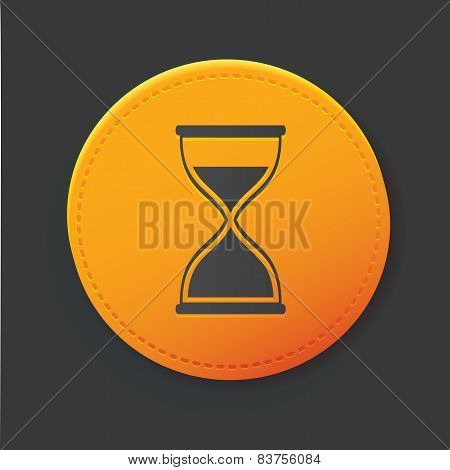 Hourglass button,clean vector