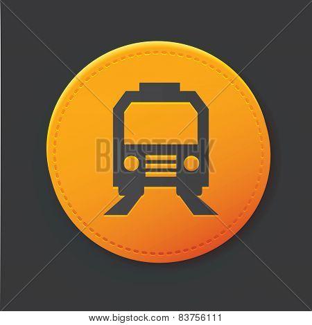 Train button,clean vector