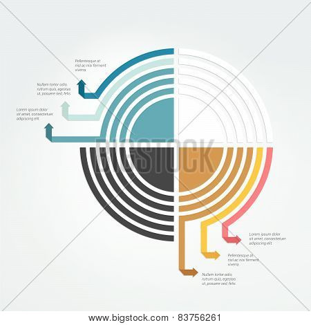 Round Template. Circle Diagram, Scheme. Infographics Elements.