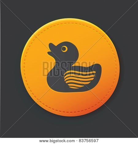 Duck button,clean vector