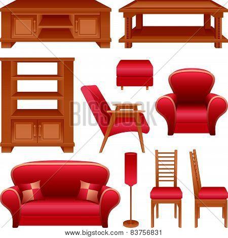 Set of furniture for a living-room