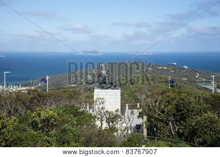 A scenic view of King George Sound from Mount Clarence in Albany