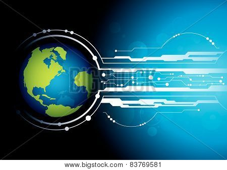 World With Technology Background