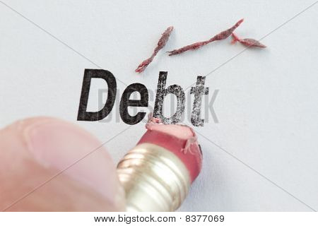 Eraser And Word Debt