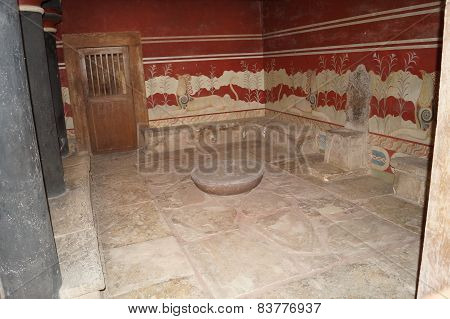 Throne-room of the tsar Minos