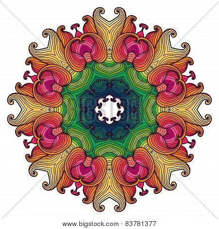 Mandala. Ethnic Lace Round Ornamental Pattern.