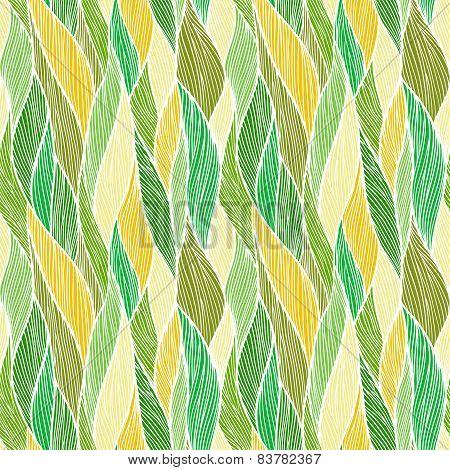 Seamless hand drawn wavy pattern.
