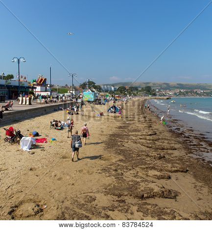 Summer sunshine and warm weather brought visitors to Swanage on the Dorset coast