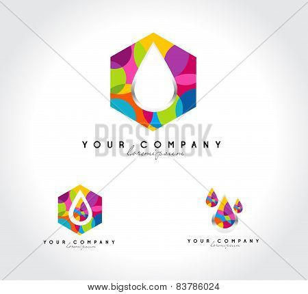 Water Drops Corporate Logo
