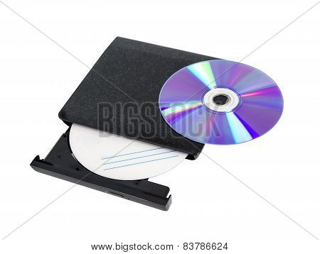 DVD recorder isolated on white background