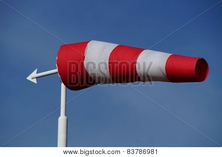 Red and white windsock - wind vane