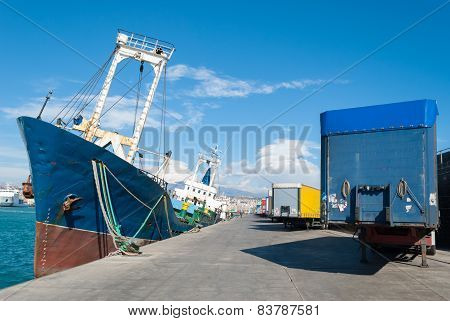 Commercial Dock At The Harbor