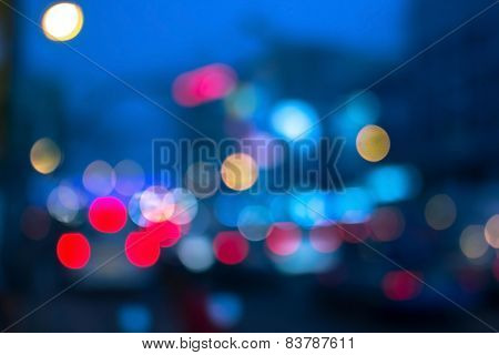 city light blurred background