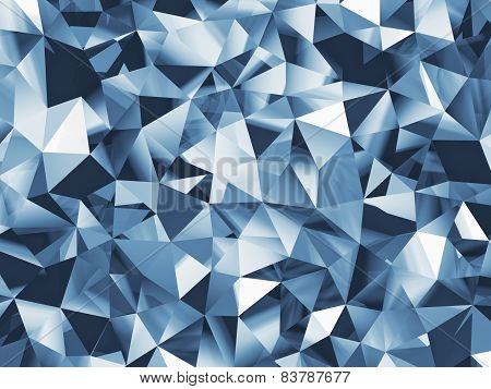 Abstract blue faceted background