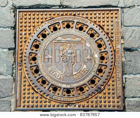 Trier Treves Manhole Cover With City Emblem