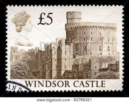 Windsor Castle Used Postage Stamp