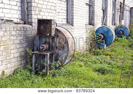 Old Derelict Electric Engine For Grain Storage Ventilator