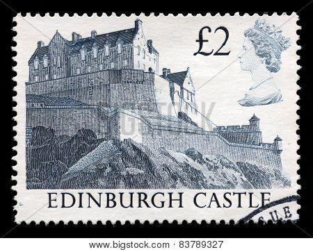 Edinburgh Castle Used Postage Stamp