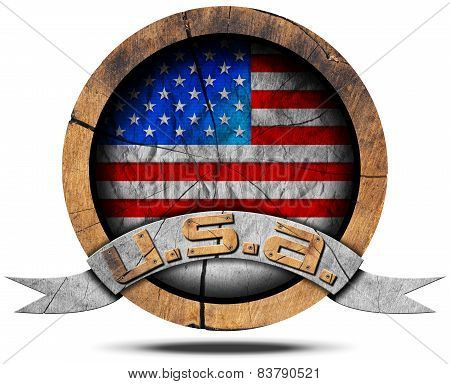 Usa Flag - Wooden Icon