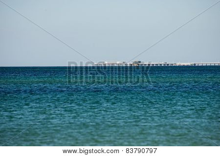 Busselton Jetty remote view from West Busselton