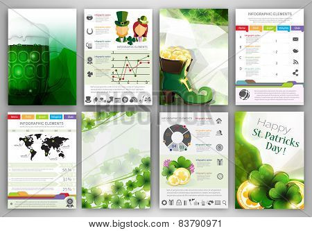 St. Patrick's Day Infographic Backgrounds