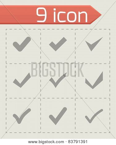 Vector black confirm icon set