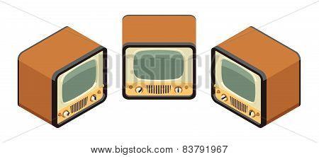 Isometric retro TV sets