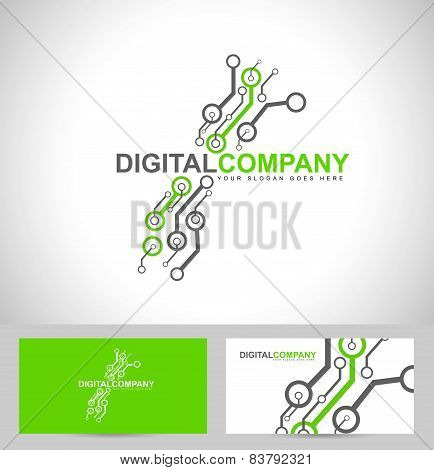 Digital electronics logo design