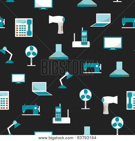 Seamless background with home appliances
